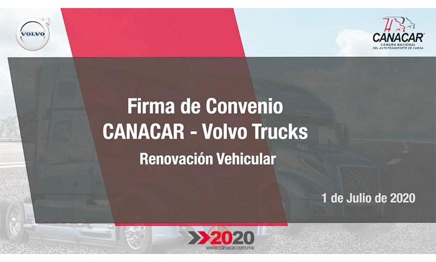 CANACAR y Volvo Trucks firman convenio de colaboración