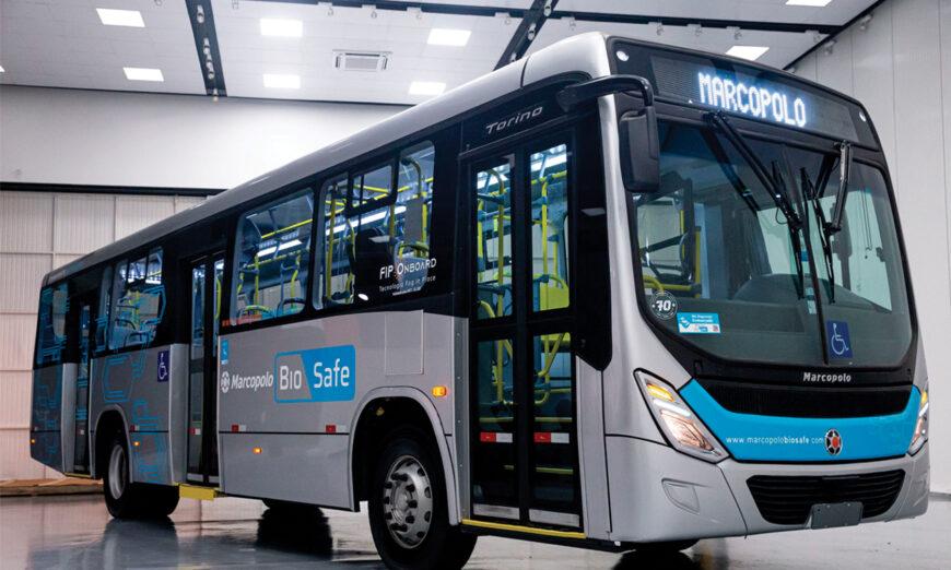 Marcopolo amplia soluciones de bioseguridad para autobuses urbanos y microbuses
