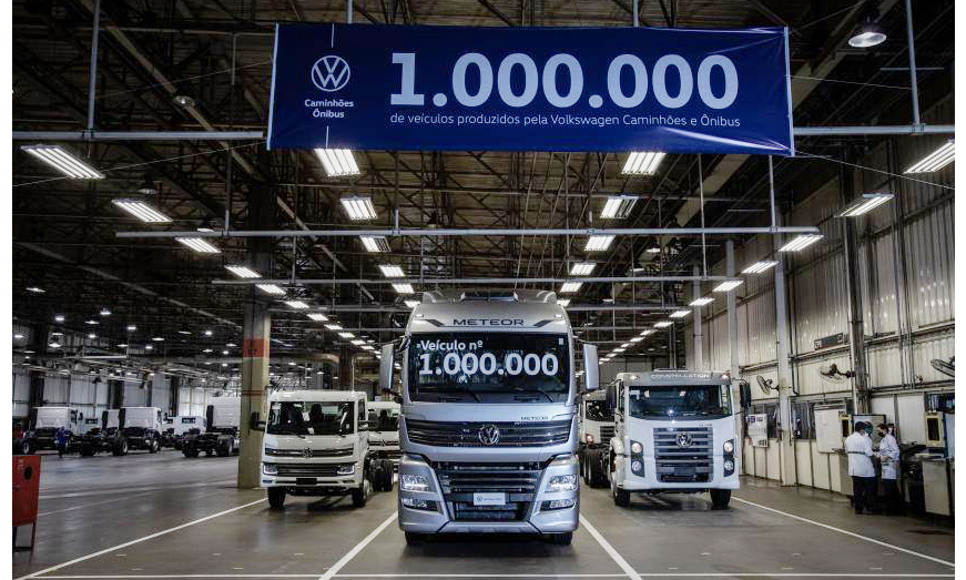 Volkswagen Caminhões e Ônibus alcanza el umbral del millón de vehículos producidos
