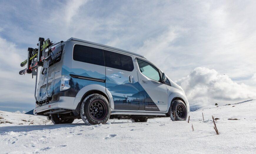 Nissan presenta la van Winter Camper Concept, diseñada para las aventuras invernales