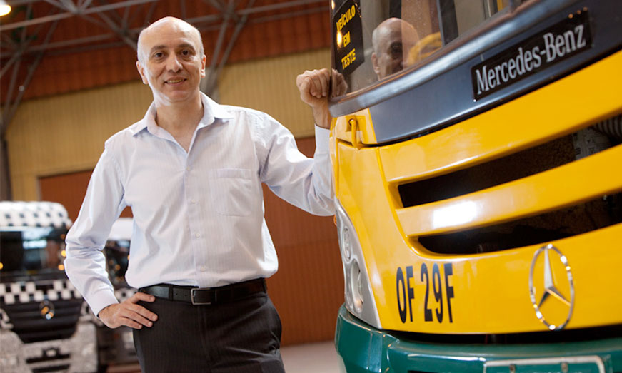 Mercedes-Benz Autobuses da la bienvenida a Paschoal Federico