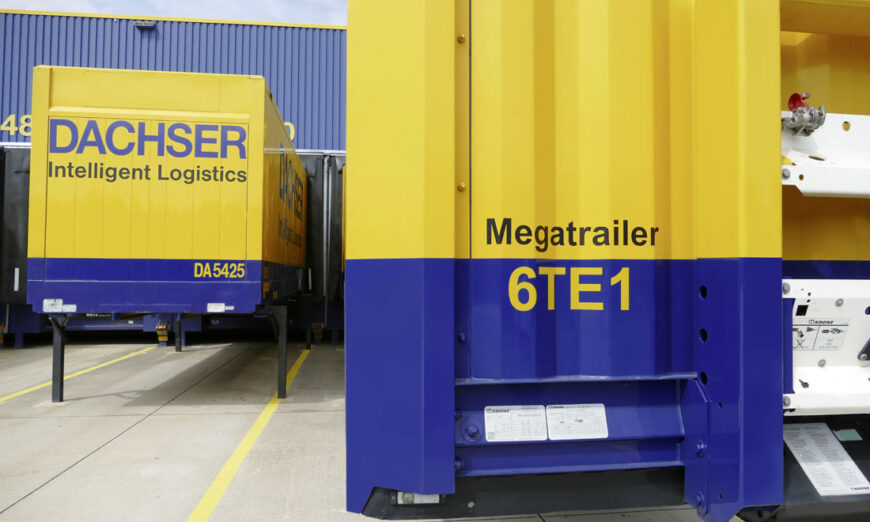 La conversión sucesiva de semirremolques en la línea de negocio de logística europea optimiza la utilización de la capacidad y mejora la huella climática de los transportes