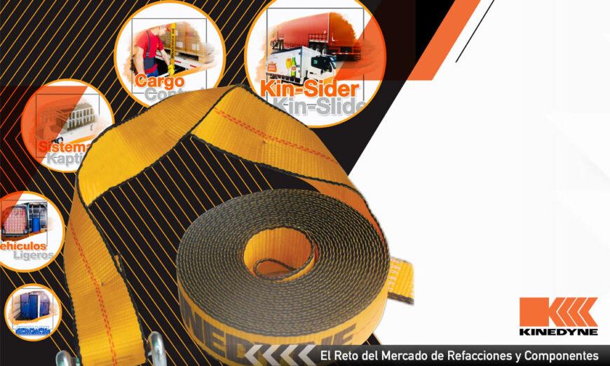 La sujeción y control de la carga propuesta por Kinedyne es parte de la seguridad y contribuye con la productividad en la operación de vehículos de carga en México