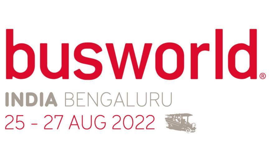 Busworld India del 25 al 27 de agosto 2022 en Bangalore
